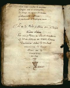 Darrer foli del manuscrit de la <em>Passió i Mort de Christo Nostre Señor</em>, de Lluc Cardona. Foto: Marià Torres Torres.