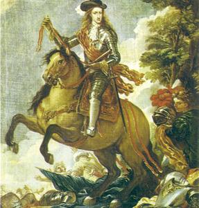 Carles II a cavall, en una pintura de Lucas Jordán. Museu del Prado, Madrid.