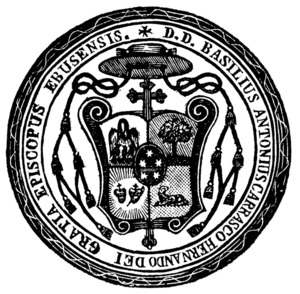 Segell del bisbe Basilio Antonio Carrasco Hernando.