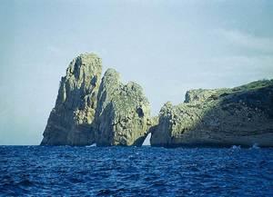 Es Cavall de sa Punta, a la punta de ses Torretes, Santa Agnès de Corona. Foto: Enric Ribes i Marí.