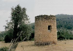La torre des Verger, al lloc des Celleràs, vénda des Port, de Sant Miquel de Balansat. Foto: Antoni Ferrer Abárzuza.