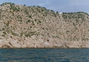 Es Cingles, a la costa del municipi de Sant Joan de Labritja. Foto: Enric Ribes i Marí.