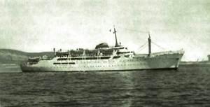 El vaixell <em>Ciudad de Barcelona</em>.