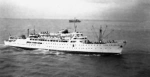 El vaixell <em>Ciudad de Granada</em>.