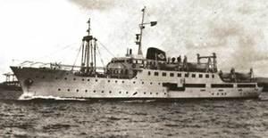 El vaixell <em>Ciudad de Huesca</em>.