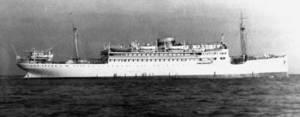 El vaixell <em>Ciudad de Sevilla</em>.