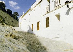 El número quatre del carrer de Santa Maria, Dalt Vila, on l´historiador Josep Clapés i Juan va viure. Foto: Felip Cirer Costa.