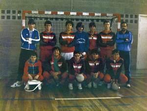 L´equip del Club Handbol Sant Antoni.