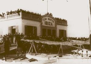 L´antic edifici del Club Nàutic d´Eivissa, començat el 1930.