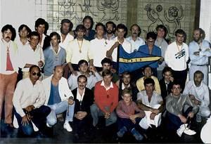 Participants a una regata organitzada pel Club Nàutic de Sant Antoni de Portmany l´any 1982.