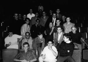 El grup de teatre del Club Recreatiu Juvenil. Foto: cortesia de Joan Ribas Cuenca.