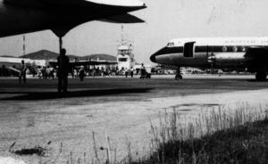 Una imatge de l´aeroport des Codolar durant els anys seixanta del s. XX. Foto: cortesia de Jordi Grünwald.