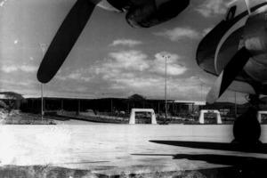 Una altra imatge de l´aeroport des Codolar durant els anys seixanta del s. XX. Foto: cortesia de Jordi Grúnwald.