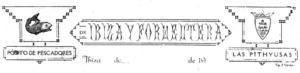 Encapçalament del paper oficial de la Confraria de Pescadors d´Eivissa, pertanyent als anys trenta.