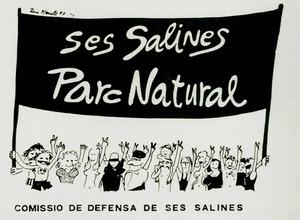 Imatge que ha esdevengut símbol de la Coordinadora Cívica Salvem ses Salines.