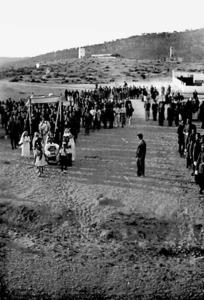 La processó de Corpus Christi a Sant Antoni de Portmany, anys quaranta del s. XX. Foto: arxiu de Marià Torres Torres.