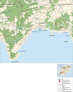 Mapa de la vénda des Cubells. <strong></strong>Elaboració: Josep Antoni Prats Serra / José F. Soriano Segura / Antoni Ferrer Torres.