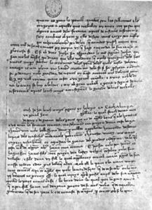 Un foli del manuscrit de Curial e Güelfa.