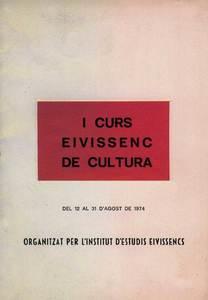 Portada del programa del I Curs Eivissenc de Cultura, de 1974. Cortesia de l´Institut d´Estudis Eivissencs.