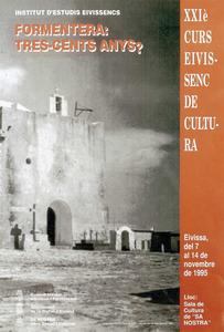Cartell del XXI Curs Eivissenc de Cultura, sobre una foto de Voramar. Cortesia de l´Institut d´Estudis Eivissencs.