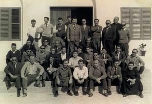 Professors i participants d´un dels Cursets de Cristiandat de l´any 1966. Foto: V. Domínguez / arxiu particular.