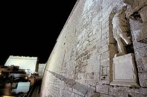 Un aspecte de la murada Llarga, que uneix el portal de ses Taules amb el baluard de Santa Llúcia. Foto: Vicent Marí.