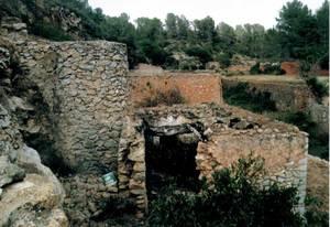El molí de Dalt de Buscastell, també anomenat molí d´en Tià i, darrerament, d´en Tonico. Foto: Felip Cirer Costa.