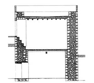 Secció de la torre de can Damià d´en Savines. Elaboració. Joan Josep Serra Rodríguez.