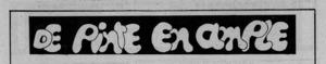 """Capçalera de la secció """"De pinte en ample"""", publicada a partir de 1975 a <em>Diario de Ibiza</em>."""
