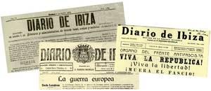 Capçaleres del <em>Diario de Ibiza</em> d´èpoques diferents.