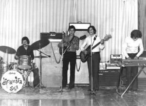 Dinamita and Soda, grup musical que va actuar entre els anys 1968 i 1978. Foto: cortesia de Vicent Riera Riera.