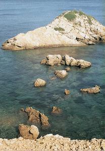 Cap de Dins s´Illot, a la costa de Xarracó. Foto: Enric Ribes i Marí.