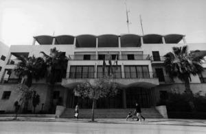 L´antic edifici de la Direcció Insular de l´Administració General de l´Estat, més conegut com la Delegació del Govern, a l´avinguda d´Isidor Macabich d´Eivissa. Fou enderrocat el 2015. Foto: Joan A. Riera / <em>Diario de Ibiza</em>.