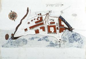 El port d´Eivissa i la vila d´Eivissa a principi del s. XVII. Foto: Cortesia de l´Archivo General de Simancas.