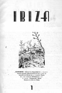 Exemplar n&uacute;m. 1 (1944) de la primera &egrave;poca de la revista <em>Eivissa</em>.