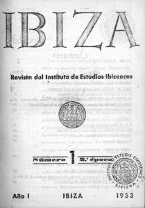 Exemplar n&uacute;m. 1 (1953) de la segona &egrave;poca de la revista <em>Eivissa</em>.