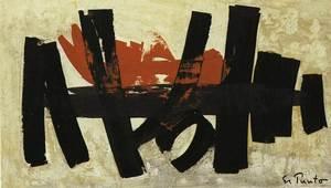 Oli damunt tela, 40 x 70 cm, <em>Sense t&iacute;tol</em> (1965), de Frank El Punto. Foto:<em> Frank El Punto</em> / Sa Nostra 1999.