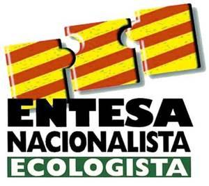 Anagrama de l´Entesa Nacionalista i Ecologista, partit polític creat el 1989.