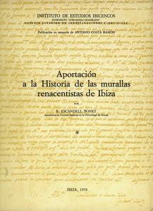 Portada del llibre de Bartomeu Escandell Bonet sobre les murades renaixentistes d´Eivissa, que abans havia publicat per capítols en el <em>Diario de Ibiza</em>.