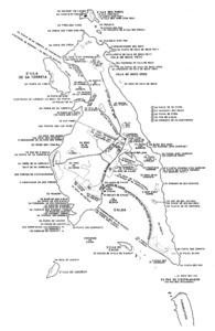Mapa toponímic de s´Espalmador, elaborat per Cosme Aguiló.