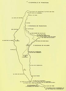 Mapa toponímic de s´Espardell elaborat per Cosme Aguiló.