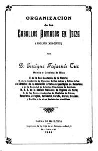Portada d´una monografia d´Enric Fajarnés Tur.