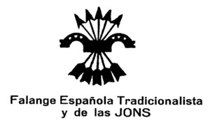 El jou i les fletxes, anagrama de la Falange Española y de las Jons.
