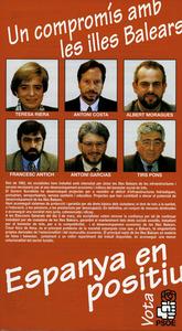 Federació Socialista Pitiüsa. Un cartell electoral del PSOE.