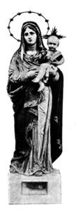 Imatge de Santa Maria d´Eivissa, obra d´Adrià Ferran, que es trobava a la catedral d´Eivissa.