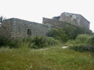 Les cases de la hisenda de sa Fontassa, a Santa Gertrudis de Fruitera. Foto: Felip Cirer Costa.
