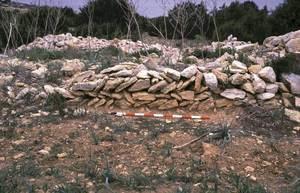 Formentera. Època medieval andalusina. Restes constructives de sa Cala V. Foto: MAEF.