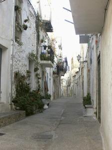 El carrer Fosc, al barri de sa Penya, de la ciutat d´Eivissa. Foto: Josep Cardona Riera.