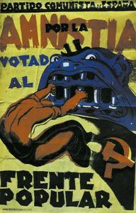 Cartell del Front Popular de les eleccions de febrer de 1936.