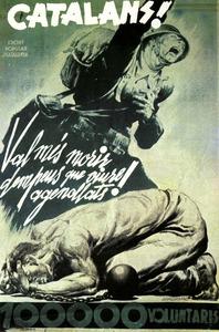 Cartell del Front Popular de Catalunya.